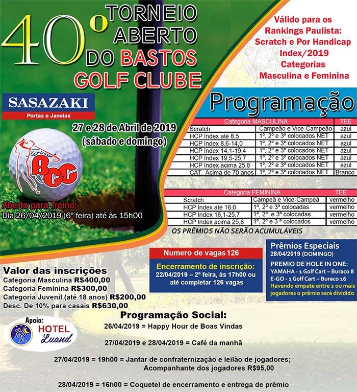 Torneio Golfe Aberto 2019 BB