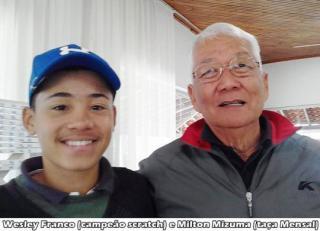 Milton Mizuma ganha taça do 574º Torneio Mensal de Golfe
