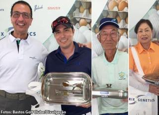 3º Torneio de Golfe Hendrix Genetics - Campeões scratch Leonardo Yoshikawa, Yoshihide Momose e Matsuyo Aiso